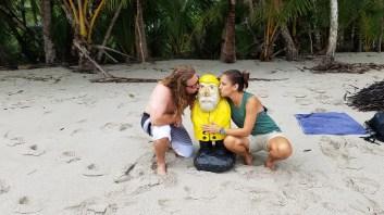 Captain Ahab of Ahab's Adventures making new friends in Manuel Antonio National Park in Manuel Antonio Costa Rica 2018