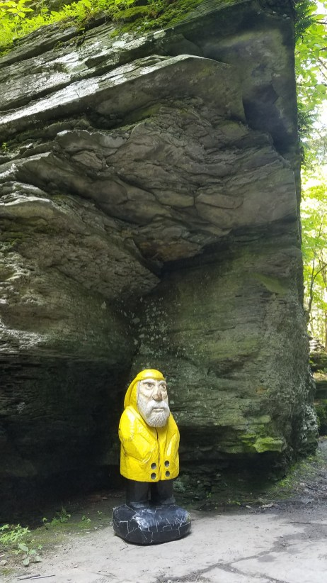 Captain Ahab of Ahab's Adventures hiking around Robert H Treman State Park 2019