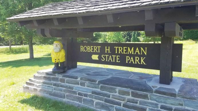 Captain Ahab of Ahab's Adventures hiking around Robert H Treman State Park 2019