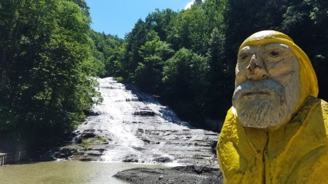 Captain Ahab of Ahab's Adventures checking out Buttermilk Falls State Park 2019
