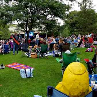 Captain Ahab of Ahab's Adventures being entertained at Tanglewood Massachusetts 2019