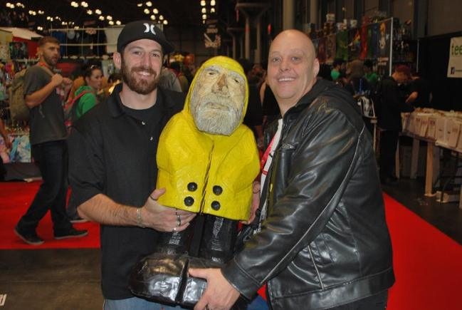 Captain Ahab of Ahab's Adventures with Mr. BurnChimp at the New York Comic Con 2013