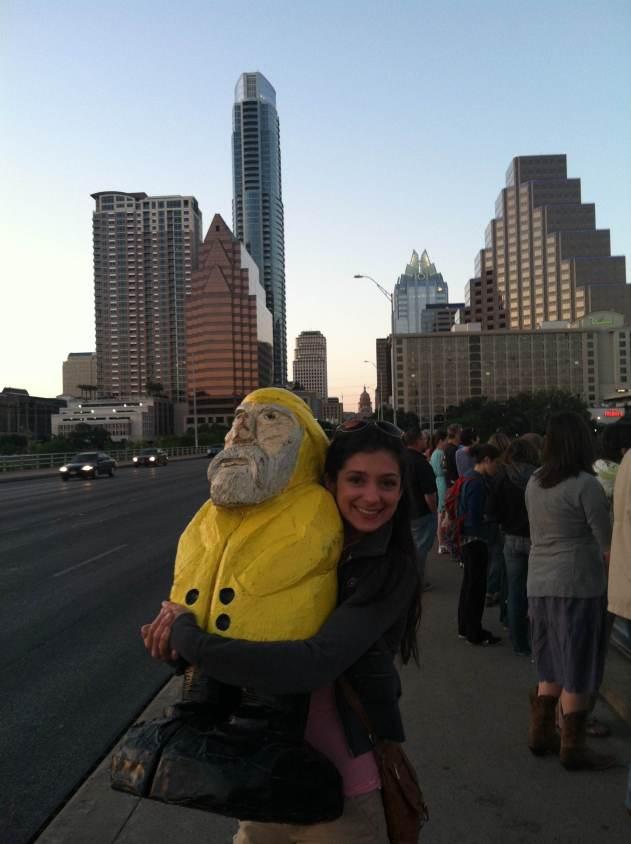 Captain Ahab of Ahab's Adventures at the Congress Avenue Bridge in Austin Texas 2013