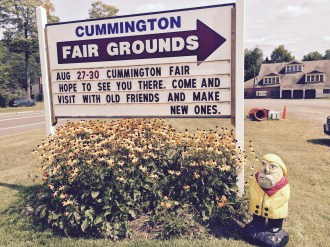 Captain Ahab of Ahab's Adventures visiting the Cummington Fair for Carnival Rides and Fried Dough in Cummington Massachusetts 2015