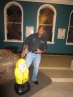 Captain Ahab of Ahab's Adventures at the Pecka Kucha Talks in Pittsfield Massachusetts 2012