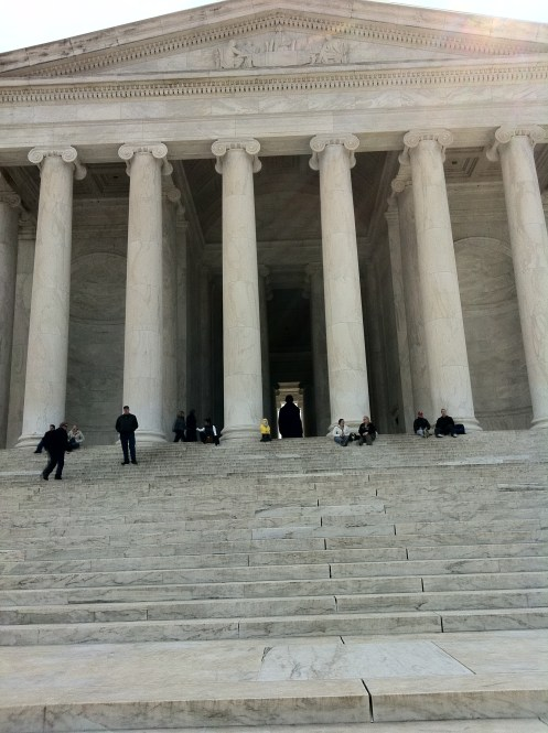 Captain Ahab of Ahab's Adventures at the Jefferson Memorial in Washington D.C. 2011
