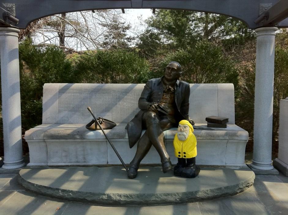 Captain Ahab of Ahab's Adventures at the George Mason Memorial in Washington D.C. 2011