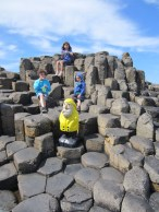 Captain Ahab of Ahab's Adventures at Giant's Causeway's Wishing Chair in Ireland 2014