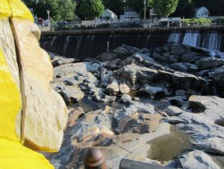 Captain Ahab of Ahab's Adventures at the Glacial Potholes in Shelburne Falls Massachusetts 2015