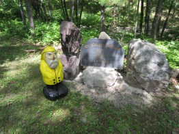 Captain Ahab of Ahab's Adventures outside St. Columba Chapel at Columcille Megalith Park in Pennsylvania 2015