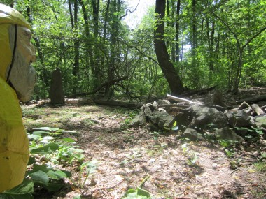 Captain Ahab of Ahab's Adventures in the Sacred Men's Site at Columcille Megalith Park in Pennsylvania 2015