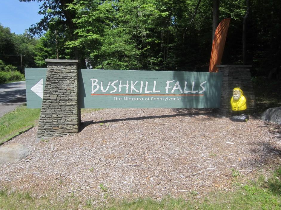 Captain Ahab of Ahab's Adventures entering Bushkill Falls in the Delaware Water Gap National Recreational Area of Pennsylvania 2015