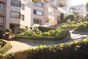 Captain Ahab of Ahab's Adventures at Lombard Street in San Francisco California 2011