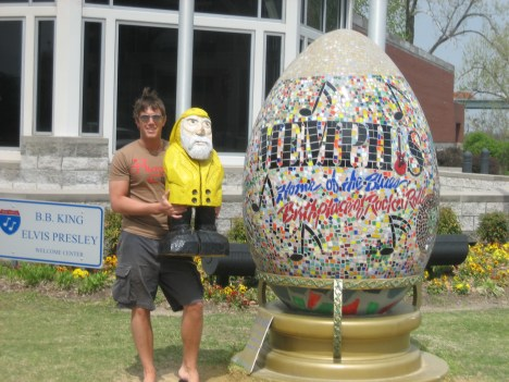 Captain Ahab of Ahab's Adventures in Memphis Tennessee on his Cross Country Road Trip of 2006