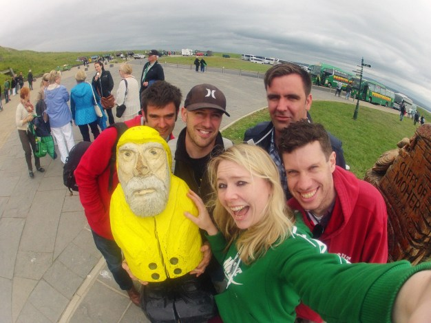 Captain Ahab of Ahab's Adventures at the Cliffs of Moher in Ireland 2014