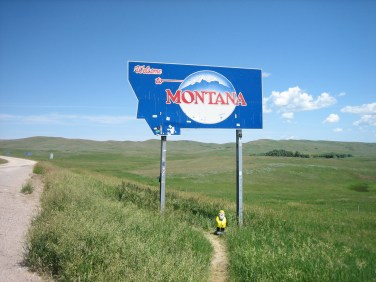 Captain Ahab of Ahab's Adventures entering Montana 2009