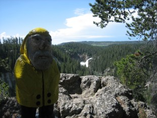 Captain Ahab of Ahab's Adventures at Lower Falls in Yellowstone National Park in Wyoming 2009
