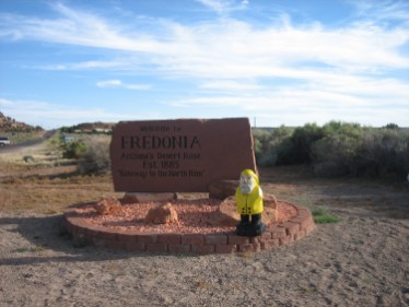 Captain Ahab of Ahab's Adventures entering Fredonia Arizona 2009
