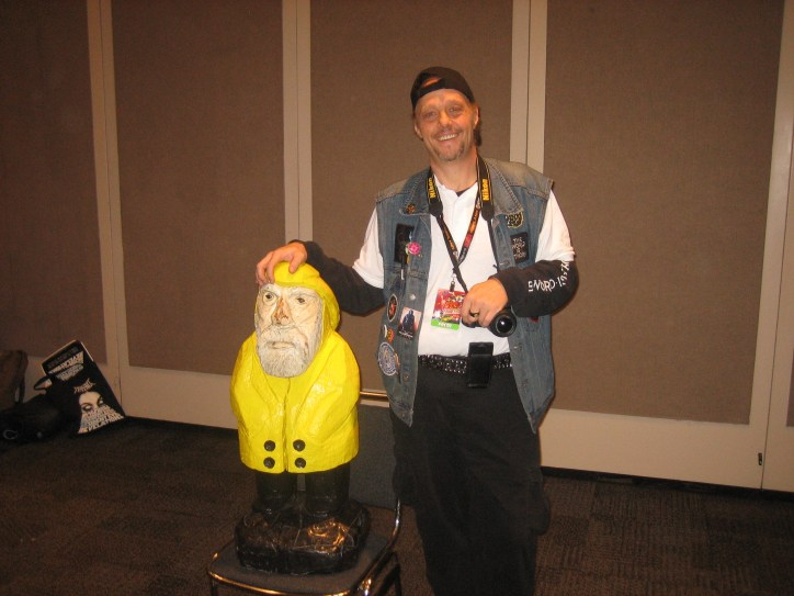 Captain Ahab of Ahab's Adventures with Mr. BurnChimp at the New York Comic Con 2011