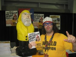 Captain Ahab of Ahab's Adventures with Judah Friedlander at the New York Comic Con 2011