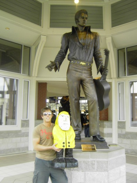 Captain Ahab of Ahab's Adventures with Elvis Presley in Memphis Tennessee on his Cross Country Road Trip of 2006
