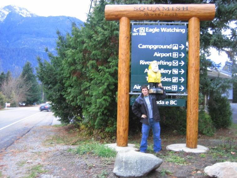 Captain Ahab of Ahab's Adventures exploring Squamish British Columbia Canada 2006