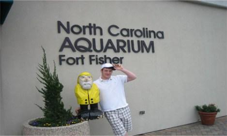 Captain Ahab of Ahab's Adventures at the North Carolina Aquarium Fort Fisher 2008