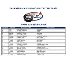 2019 SHOWCASE ROYAL BLUE ROSTER