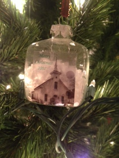 church Christmas ornaments