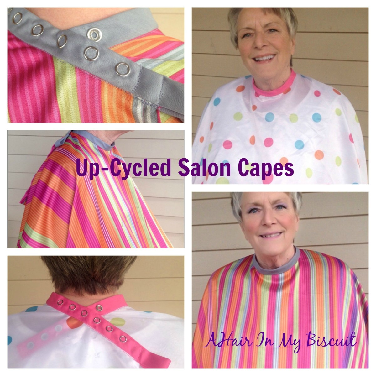 Up-Cycled Salon Capes on Etsy
