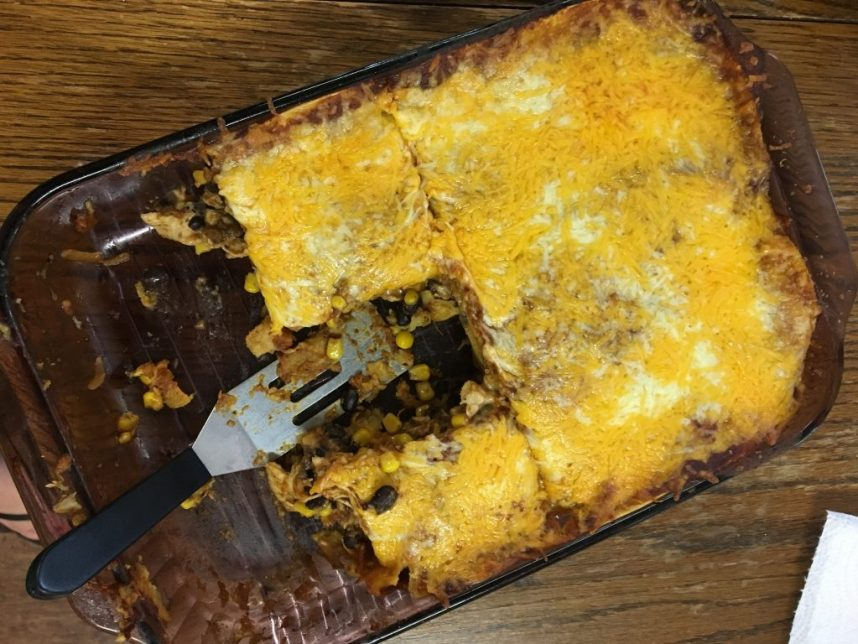 best chicken enchilada casserole