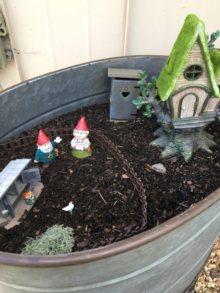 miniature gnome village