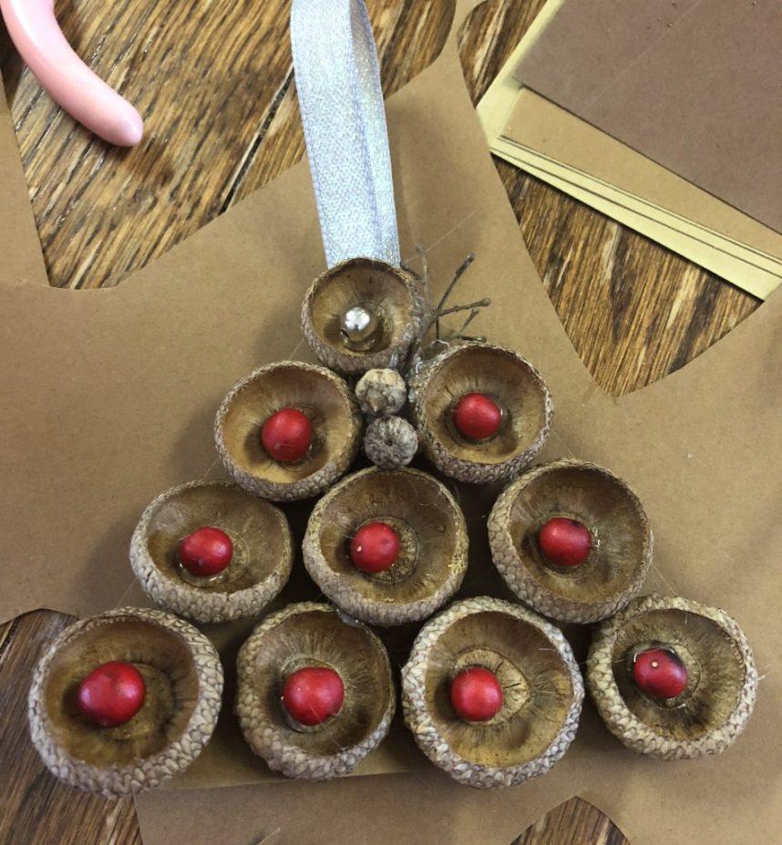 acorn Christmas tree ornaments