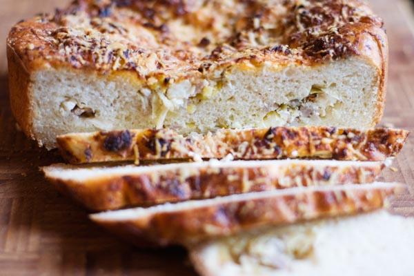 Sausage and leek bread