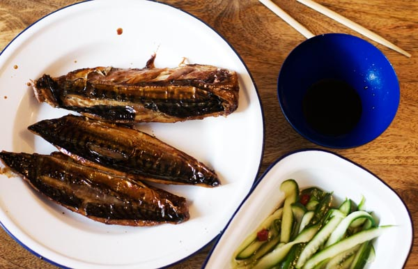 Teriyaki mackerel