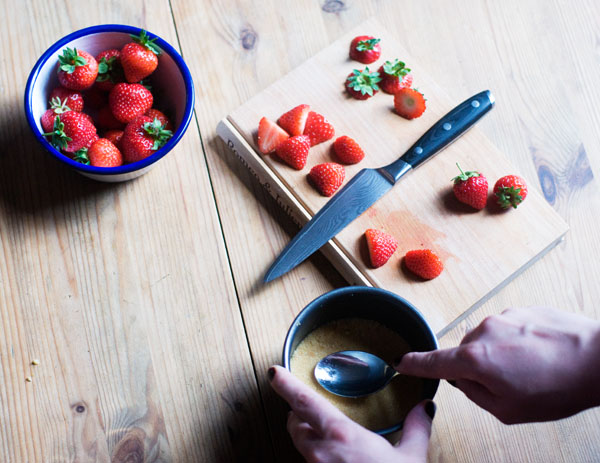 strawberry elderflower cheesecake