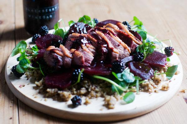 blackberry vinegar foraging blackberry season september blackberry salad duck salad grains beetroot