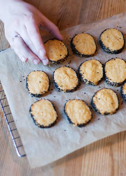 parmesan black pepper sables savoury biscuits