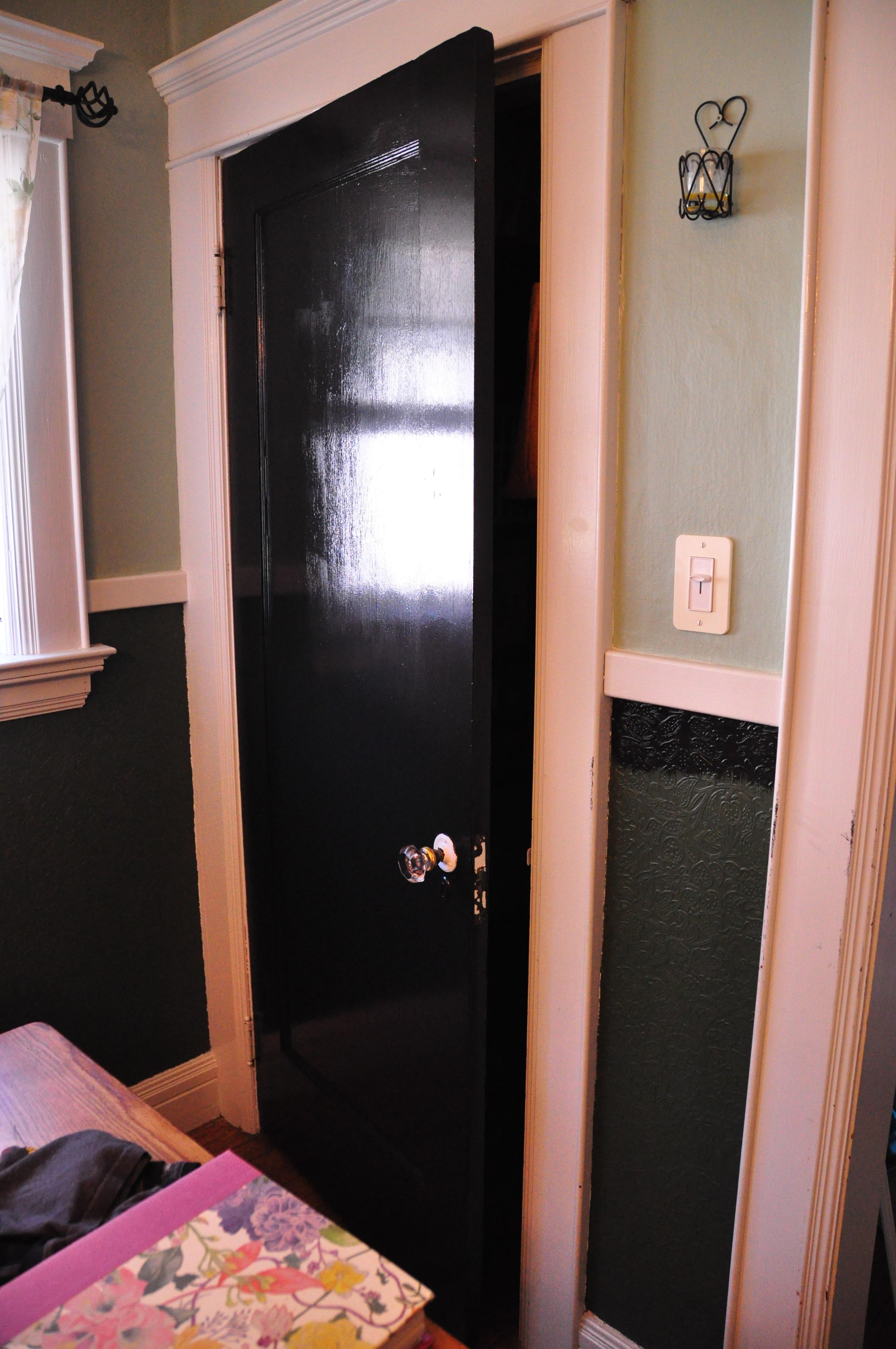 black interior doors  A Half Hour a Day
