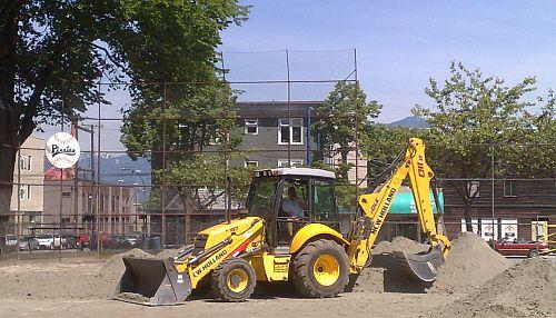 Digging up Asahi Baseball Diamond at Oppenheimer Park