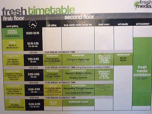 Fresh Media Time Table