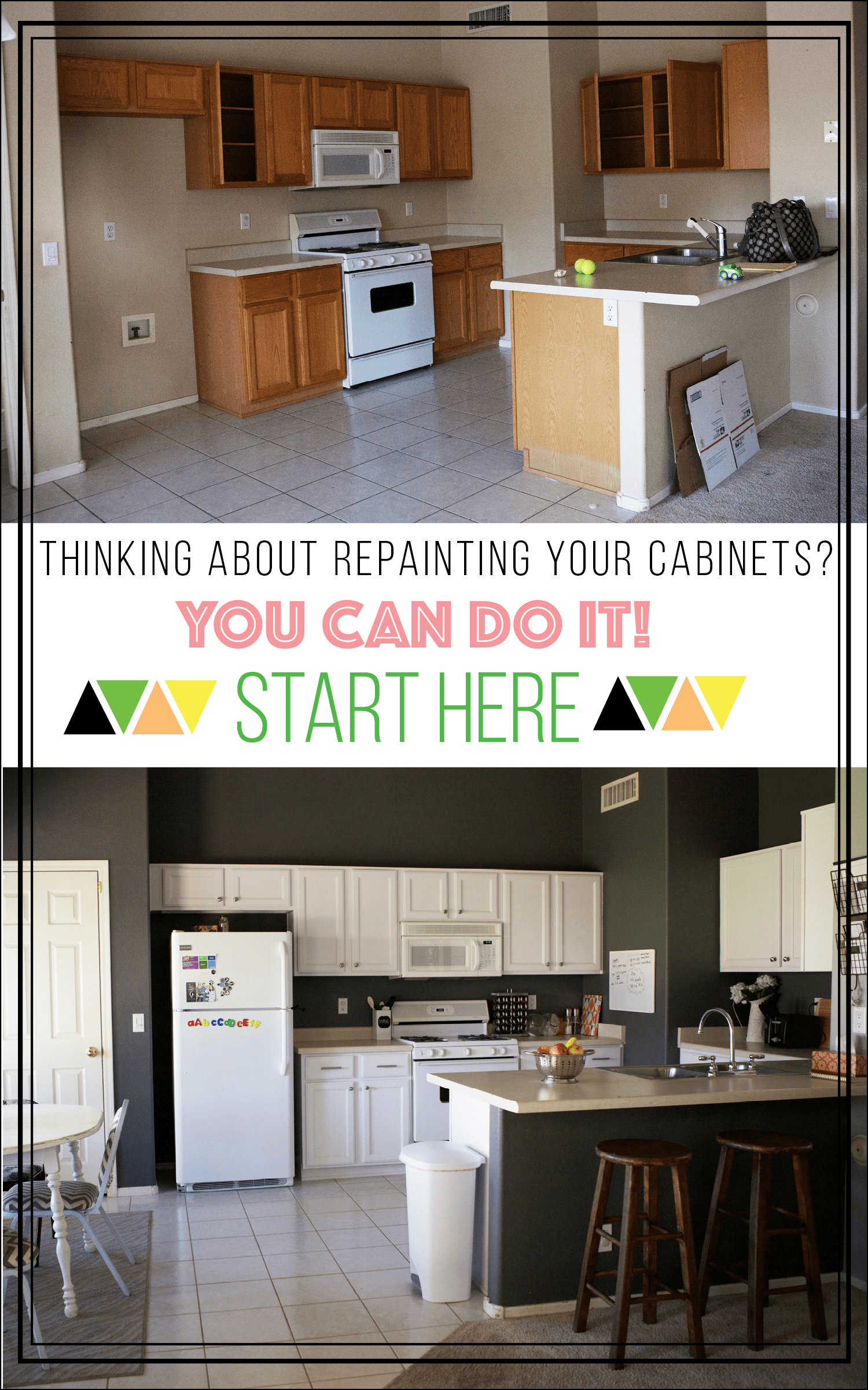 How to Repaint Your Kitchen Cabinets  A Happier Home