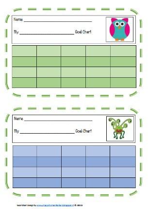 Kids Goal Incentive Chart