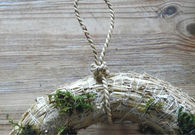 Image of second step in instructions how to make a succulent plant wreath