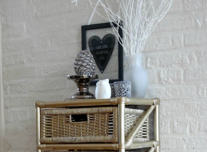 Gold Wicker Drawers