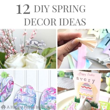EASY DIY SPRING HOME DECOR IDEAS - 12 gorgeous and simple diy craft ideas for you to try at home.
