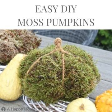 FALL DECOR IDEA - Learn how to make these fun DIY moss pumpkins in this simple tutorial over on A Happy Home In Holland.