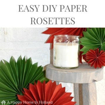Easy DIY Paper Rosettes - learn how to make simple paper fans in this easy to follow tutorial over on A Happy Home In Holland