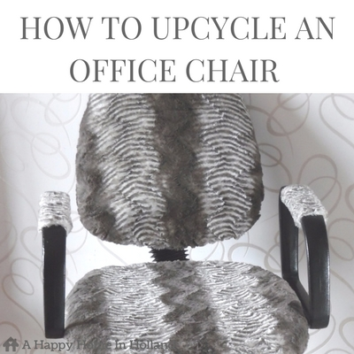 OFFICE CHAIR MAKEOVER - Learn how to simply transform you old swivel chair into a modern show piece.