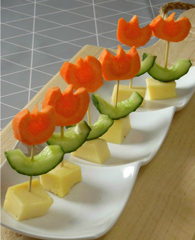 Here are my fun vegetable ideas to encourage kids to eat more of them: 1. Spiralise them. Spiralising is a great way to make noodles or spaghetti out of vegetables. Older kids can even do the spiralising themselves – but watch out for the sharp bits. We have this Gefu spiraliser*. I love it because it does a great job yet hardly takes up any space in the cupboard.